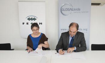 Conveni  d'adhesió  entre GLOBALLEIDA i la FECOM