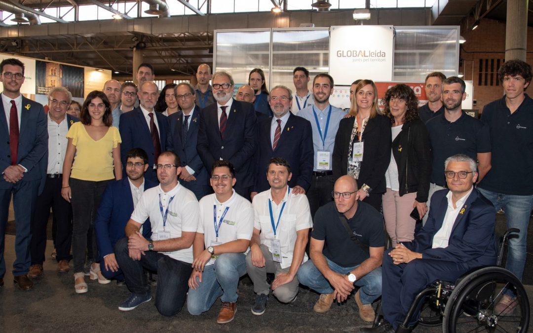 El president de la Generalitat, Joaquim Torra ha visitat als emprenedors de la Xarxa Cei que comparteixen l'estand de GLOBALLEIDA