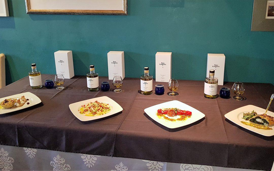 La presentació  de la harmonització de la recepta clau amb cada variació de l'oli  SuoTempore a Lleida TV