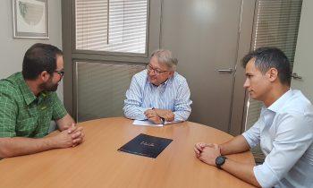 Trobada del tinent d'alcalde Paco Cerdà amb els guardonats lleidatans dels Premis Talent 2019