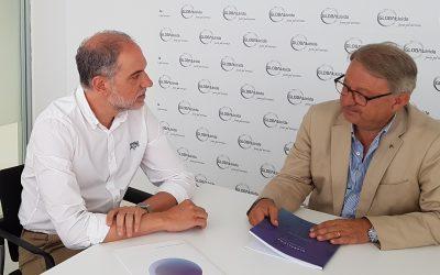 El tinent d'alcalde de Promoció Econòmica, Turisme i Projecció Exterior de l'Ajuntament de Lleida, Paco Cerdà visita GLOBALLEIDA