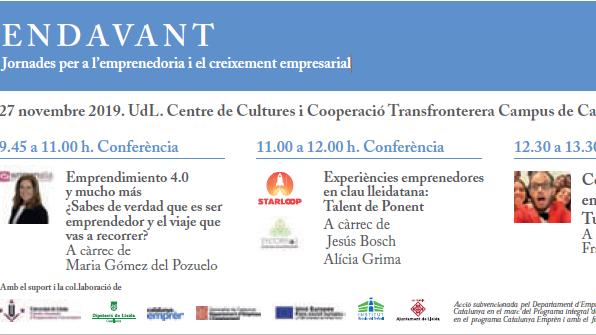 Tot a punt per la nova edició de la Jornada ENDAVANT: Empren amb Talent