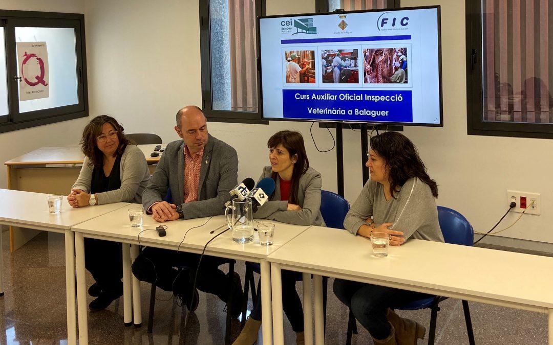 El CEI Balaguer acollirà el Curs d'Auxiliar Oficial Inspecció de Veterinària